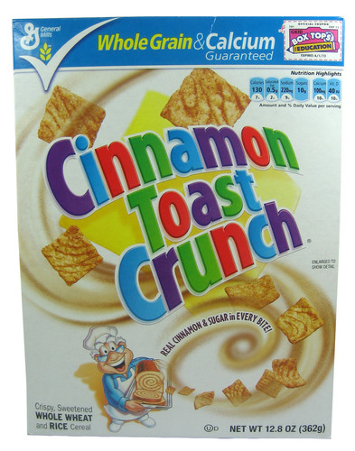 Big is cinnamon toast crunch bad for you