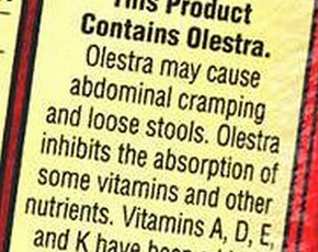 Thumb is olestra bad for you