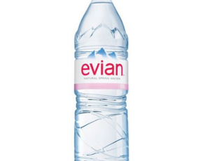 Thumb is evian water bad for you
