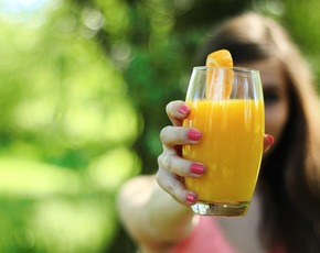 Thumb is orange juice bad for you.