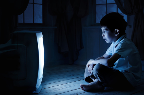 Big is watching tv in the dark bad for you.