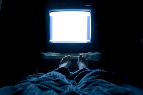 Big is watching tv in the dark bad for you
