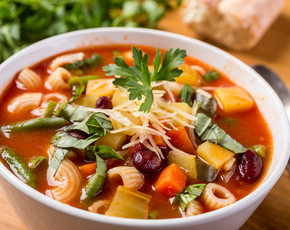 Thumb is minestrone soup bad for you.