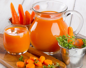 Thumb is carrot juice bad for you.