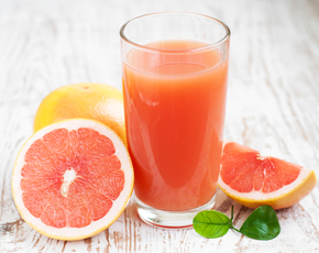 Thumb is grapefruit juice bad for you.
