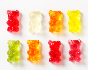 Thumb are gummy bears bad for you.