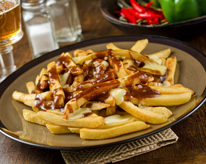 Thumb is poutine bad for you.