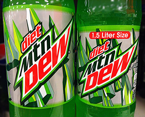 Big is diet mountain dew bad for you
