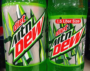 Thumb is diet mountain dew bad for you